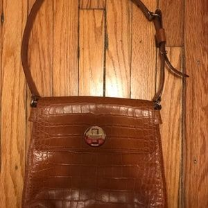 Kaye Spade Shoulder Bag Cognac Leather